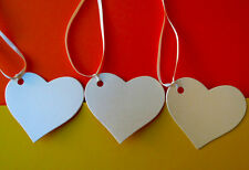 Wedding Heart tags with ribbon. Quality Ivory pearl card 300gsm Wishing trees.