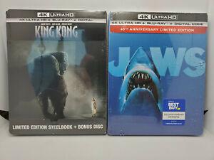 Jaws 4K + King Kong Extended+Theatrical Cut 4K+Blu-ray+Digital (2x Steelbooks)