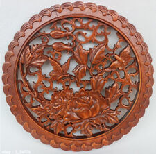 HAND WORK EFFECT XIANG ZHANG SCULPTOR WOOD CARVED WALL PANEL