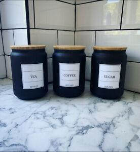 White Collection Minimalistic Tea Coffee Sugar Vinyl Label Stickers