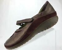 Naot Mary Janes - Brown Leather Casual Flats Shoes Women's Size 39 US 8/8.5