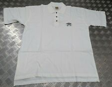 Genuine Jerzees Issue Royal Air Force RAF PTI White Polo T Shirt With Insignia