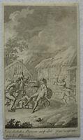 """KUPFERSTICH """"DEUTSCHE BAUERN JAGD NEUFRÄNKISCHER PLÜNDERER"""" 1798 ~6,5 x 11,5 cm"""