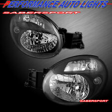 Pair Eagle Eyes Black Housing Headlights for 2002-2003 Subaru Impreza WRX