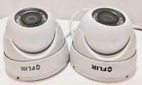 LOT OF 2- FLIR N133ED 2.1MP HD 1080p Fixed IP EYEBALL Dome Camera PoE IP66 3.6MM
