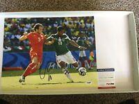 Mexico Giovani Gio Dos Santos Signed 11x14 Photo PSA DNA COA Autographed b