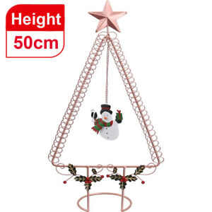50CM Rose Gold Christmas Place Tree Card Holders with Star Top Xmas Table Decor