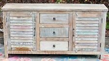 Recycled Timber Shabby Chic Shutter Sideboard Buffet Drawer Cabinet