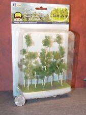 Dollhouse Miniature Woods Edge Trees 8/PK 1:48 O scale JTT  Dollys Gallery Y24