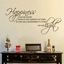 Motivation Wall Decal Harry Potter Movies Quote Happiness can be Vinyl Art Decor