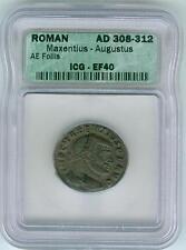 Roman Bronze Maxentius-Augustus AE Follis (AD 308-312)