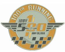 "100TH RUNNING INDY 500 PATCH 2016 JERSEY STYLE 4"" INDIANAPOLIS MOTOR SPEEDWAY"