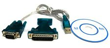 ADATTATORE USB SERIALE RS232 CAVO CONVERTITORE DECODER DB-25  DB-9