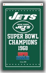 New York Jets Football Team Champions Memorable Flag 90x150cm 3x5ft Super banner