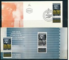 ISRAEL 1993 50TH UPRISINGS IN GHETTOS STAMP MNH + FDC + POSTAL SERVICE BULLETIN