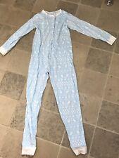 Girls All In One Sleepsuit Disney Cotton Nightwear Age 10 Y. Pale Blue