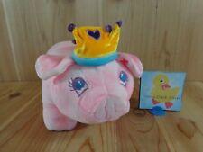 "Dan Dee PRINCESS PIG PIGGY BANK 10"" Pink Plush Crown Hard Box Interior"