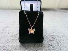 Tour de cou or jaune papillon /necklace in 18K yellow gold  butterfly