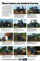 Ford Tractor The 700 & 600 Line's Range Stable Poster Brochure Advert A3