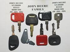 (8) John Deere Hitachi Keys JDS,  JD, JDG, H800 Heavy Equipment Ignition Key.,