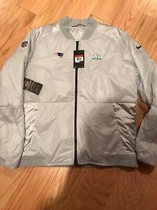 Nike NFL New England Patriots Super Bowl 52 Bomber Winter Jacket L BNwT BQ2639
