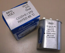 CD25+5x370 - NEW Supco Oval Motor Dual Capacitor 25+5 MFD 370 Volt