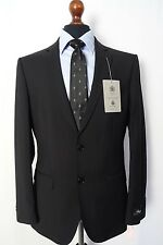 Men's Alexandre Savile Row Suit Black Twill Tailored Fit 38R W32 L31 VB39