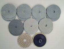 "Diamond Polishing Pads 4""100mm Wet 17 Pcs Set For Granite Marble Concrete etc.."