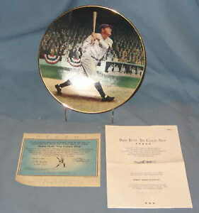 """Babe Ruth 8"""" Delphi Collector's Plate Baseball Legends"""