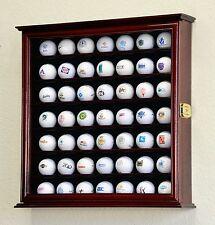 PGA 49 Golf Ball Display Case Cabinet Wall Rack Holder w/98% UV - Lockable