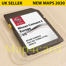 NEW NISSAN CONNECT 3 V5 LCN3 SD CARD MAP NAVIGATION MAP UK + EUROPE 2020 - 2021