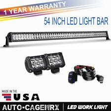 "54"" LED Light Bar Spot&Flood Combo + Wiring For 2002-08 Dodge Ram 1500 Jeep ford"