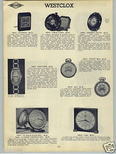 1938 PAPER AD Westclox Revolving World Globe Table Clock