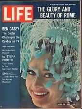 Life Magazine April 20 1962 Birthday, Ben Casey VG 042216DBE2