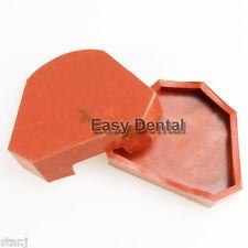 2pcs Dental Model Former Base Mold Plaster Mould Tray Silicone Large Size