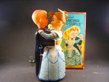 "TPS "" dancing couple "" wind-up mechanical tin toy (made in Japan) + box"