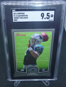 2011 Bowman Target Exclusive Cam Newton Rookie Card Gray SGC Graded 9.5 Mint+