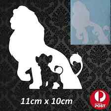 Lion King Simba Disney Car Vehicle Decal Sticker Vinyl White Funny Cute Animal