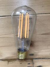 2 X LED Filament E27 Glass Warm White Bulb (2500-2700) - Piston Shape