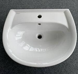Geberit Renova Nr. 1 Waschtisch 60 x 49 cm HL ÜL Weiß 223060000 Waschbecken NEU