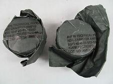 2x Surplus British Army AR10 S10 FM12 40mm Respirator Gas Mask Filter Filters J1