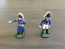 Russian Painted Napoleonic Wars French Napoleon & Officer Command 54mm