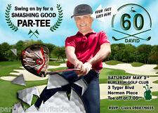 Golf Theme, Golf Birthday Invitation, GOLF BIRTHDAY Invitation 30th 40th 50th