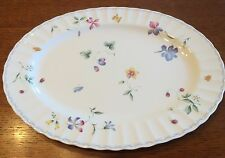 Mikasa Sorrento Oval Platter 14 Inches CAJ09 Flowers Butterflies