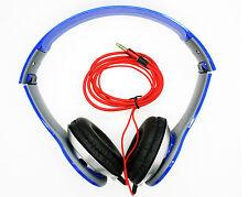 Auriculares Cascos Alta definición para DJ PSP iPod MP3 MP4 cable 3.5mm 2517azul
