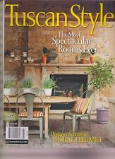 TUSCAN STYLE MAGAZINE FALL/WINTER 2014, THE MOST SPECTACULAR ROOMS EVER, RARE.