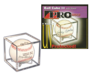 Pro-Mold Baseball Cube Case 5 Year UV Display with Cradle Made in USA QTY Disc.