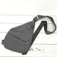 Gray Men's Sling Bag Chest Bag Backpack Casual Shoulder Crossbody Pack Travel