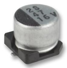 Condensadores-aluminio electrolítico-Cap ALU Elec 10UF 25V SMD-Paquete de 10
