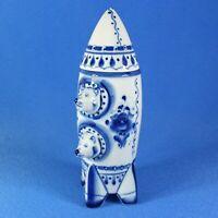 Belka & Strelka, Space dogs, Gzhel Porcelain Shtof, Space, Rocket USSR, Handmade